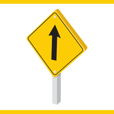 roadsigns: go straight road sign