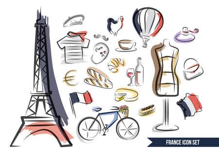 Sammlungen von französisch Artikel Standard-Bild - 51364219