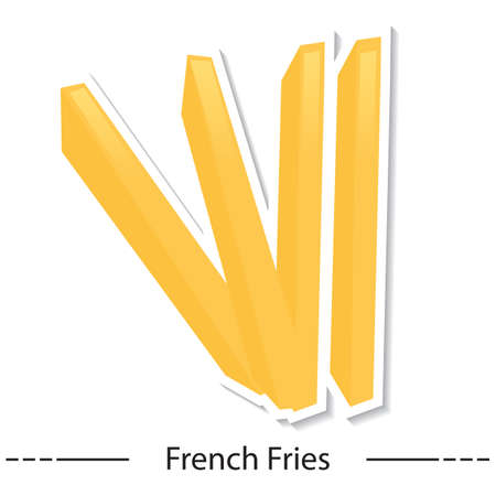 binge: french fries Illustration