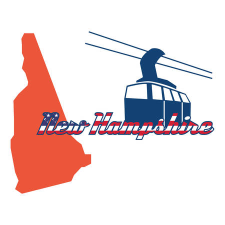 hampshire: new hampshire state map