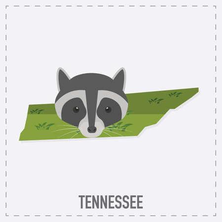 tennessee: mapa pegatina Tennessee