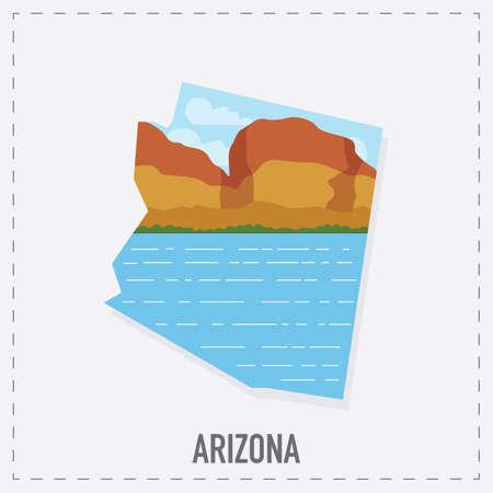 grand canyon: arizona map sticker