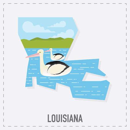 louisiana: louisiana map sticker