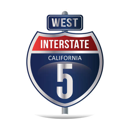 interstate: interstate 5 highway sign