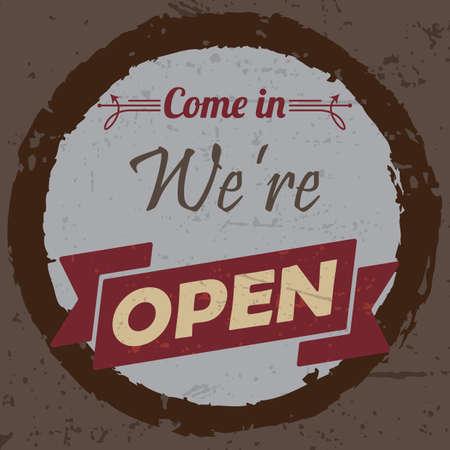 were: come in were open wallpaper Illustration