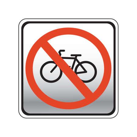 prohibition: vélos interdiction panneau de signalisation routière