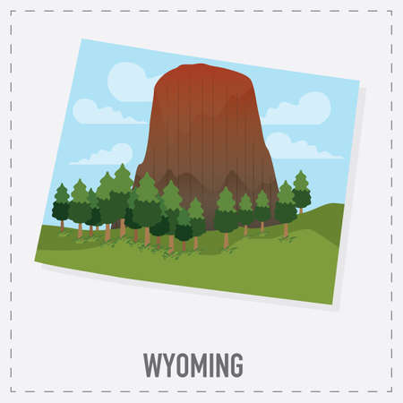 wyoming: wyoming map sticker