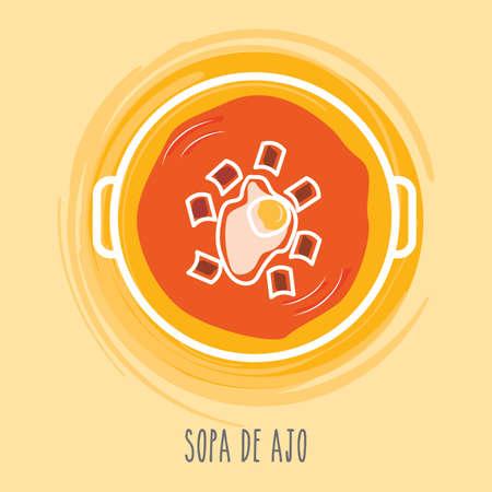 sopa: sopa de ajo