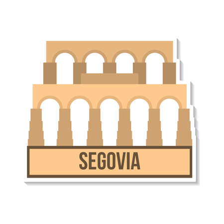 aqueduct: aqueduct of segovia Illustration