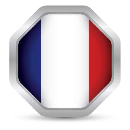 france flag: france flag button Illustration