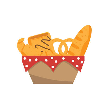 buttery: french food in basket