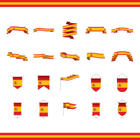 set of spain banners and pennants