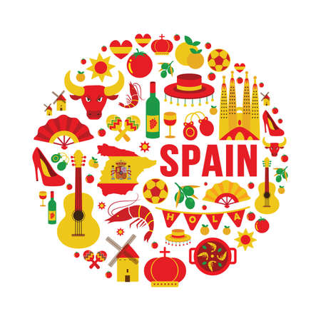 spain: collection of spain icons