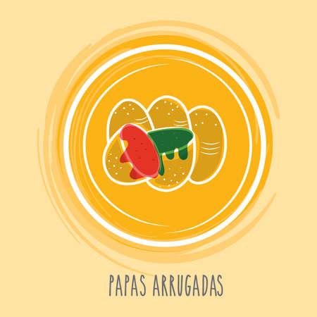 spanish food: papas arrugadas