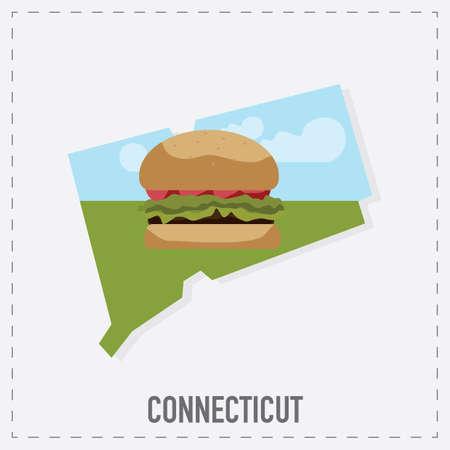 unites: connecticut map sticker