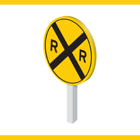 railroad crossing: railroad crossing road sign