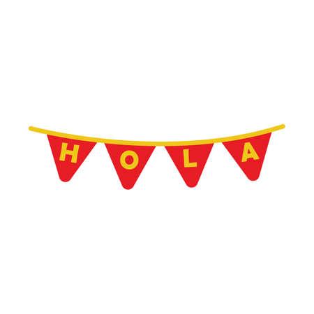 hola: spanish hola bunting