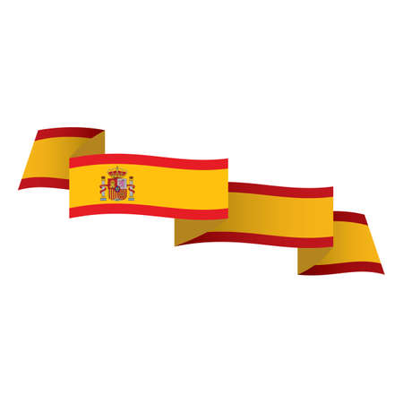 scrool: spain flag ribbon Illustration