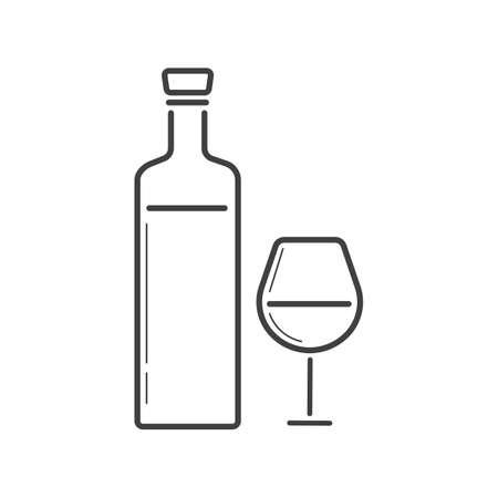 lightweight: wine bottle and glass