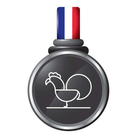 gallic: rooster in a medal