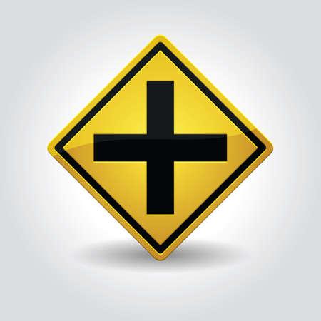 cruce de caminos: señal de cruce