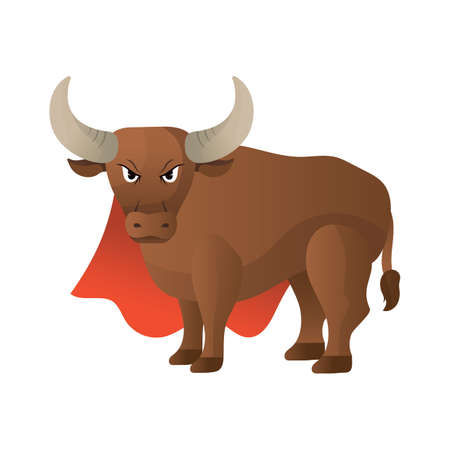 fighting bulls: spanish bull