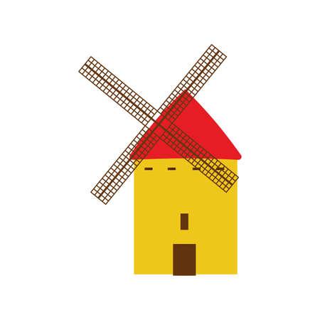 castilla: castilla la mancha windmills Illustration