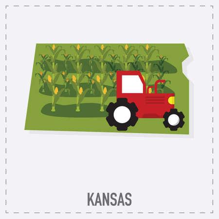 KANSAS: kansas map sticker