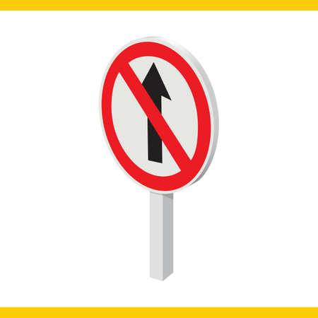 prohibido: señal de tráfico recta prohibida