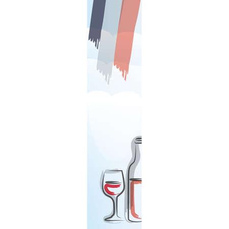 drench: Francia ornamento de la bandera Vectores