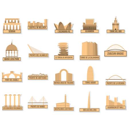 alhambra: spain monument and landmark set