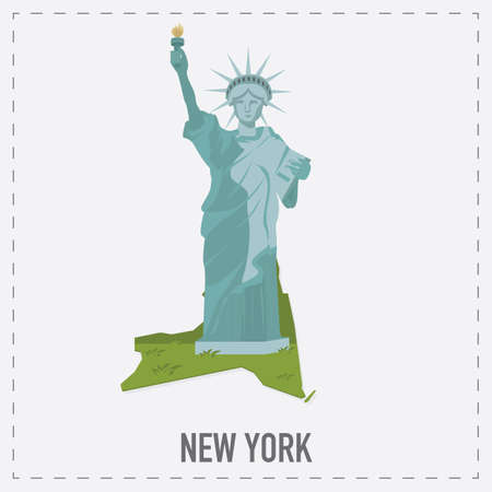 new york map: new york map sticker Illustration