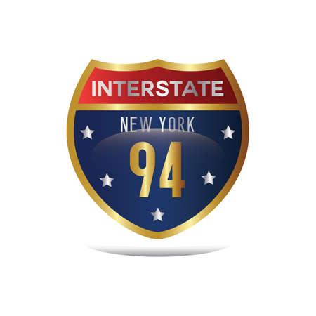 roadsigns: interstate 94 highway sign