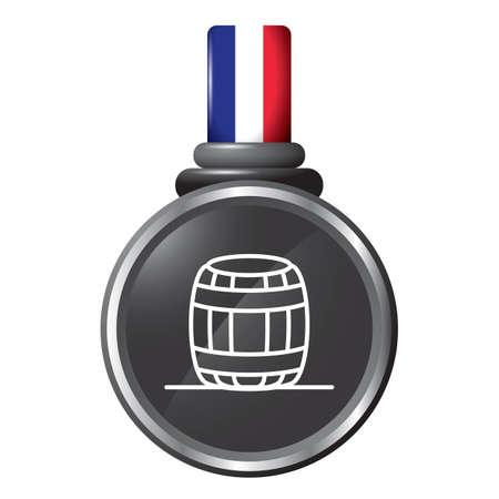 tun: barrel in a medal