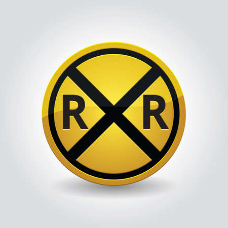 railroad crossing: railroad crossing sign