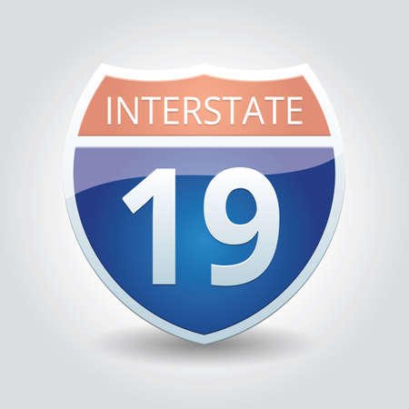 interstate: interstate 19 sign Illustration