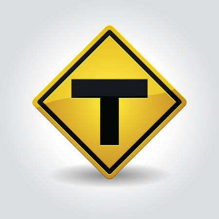 roadsigns: t-junction sign