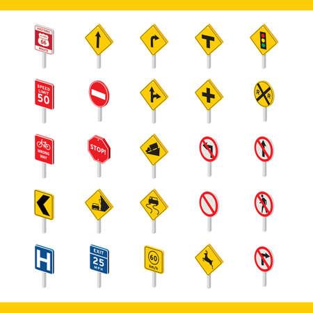 verzameling van verkeersborden