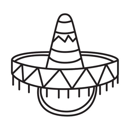 spanish tradition: sombrero hat Illustration