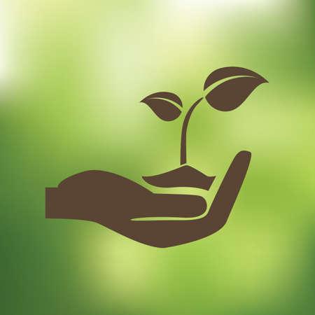 sapling: sapling in hand Illustration