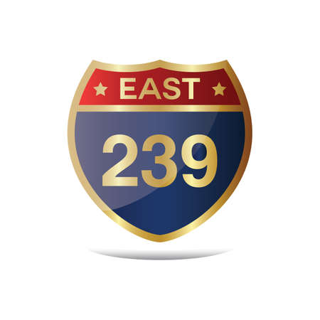 roadsigns: east 239 highway sign