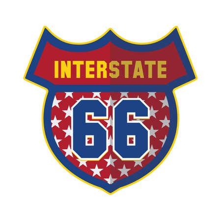 interstate: interstate 66 Illustration