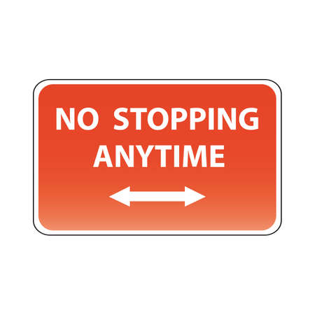 stopping: no stopping any time Illustration