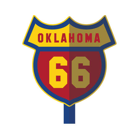 oklahoma: oklahoma 66 road sign