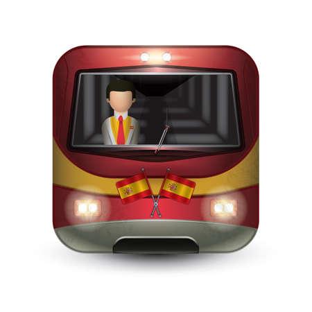headlights: spain bus Illustration