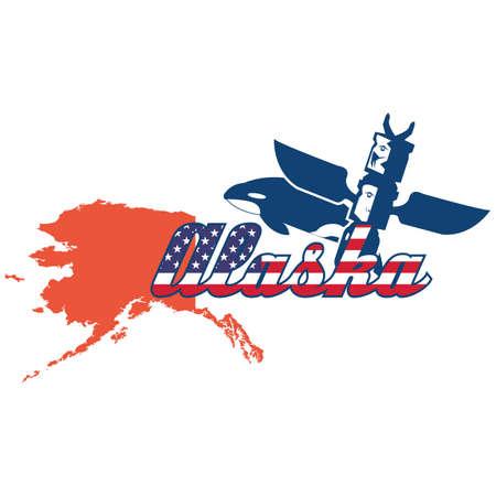alaska: alaska state map