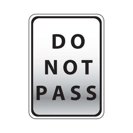 no pase: no deje pasar la muestra de camino Vectores