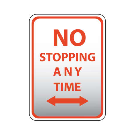 any: no stopping any time road sign