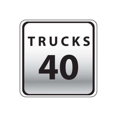 40: trucks 40 road sign Illustration