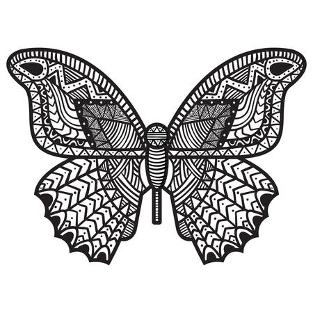 intricate: Intricate butterfly design